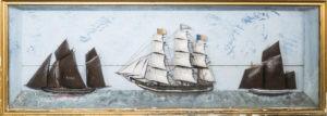 Diorama des trois navires