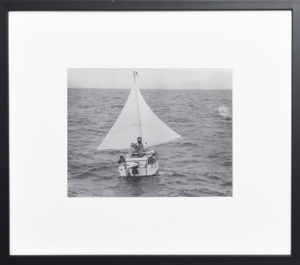 Hugo Vihlen au départ de sa traversée de l'atlantique