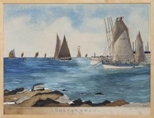 Vue du port de Concarneau par Paul-Émile Pajot