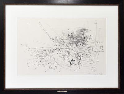 Voilier au vent par Raoul Dufy